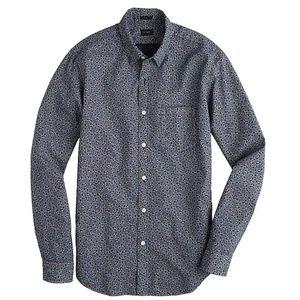 J. Crew Slim Cotton Shirt in Indigo Floral M